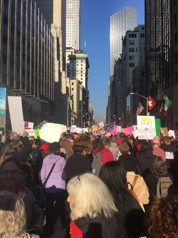 A picture Kris captured midway through the Women's March in NYC!