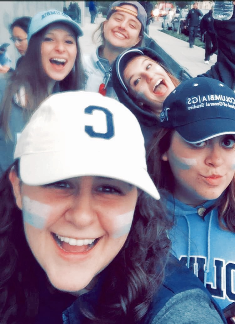 My friends and I at the one football we went to this year #golions