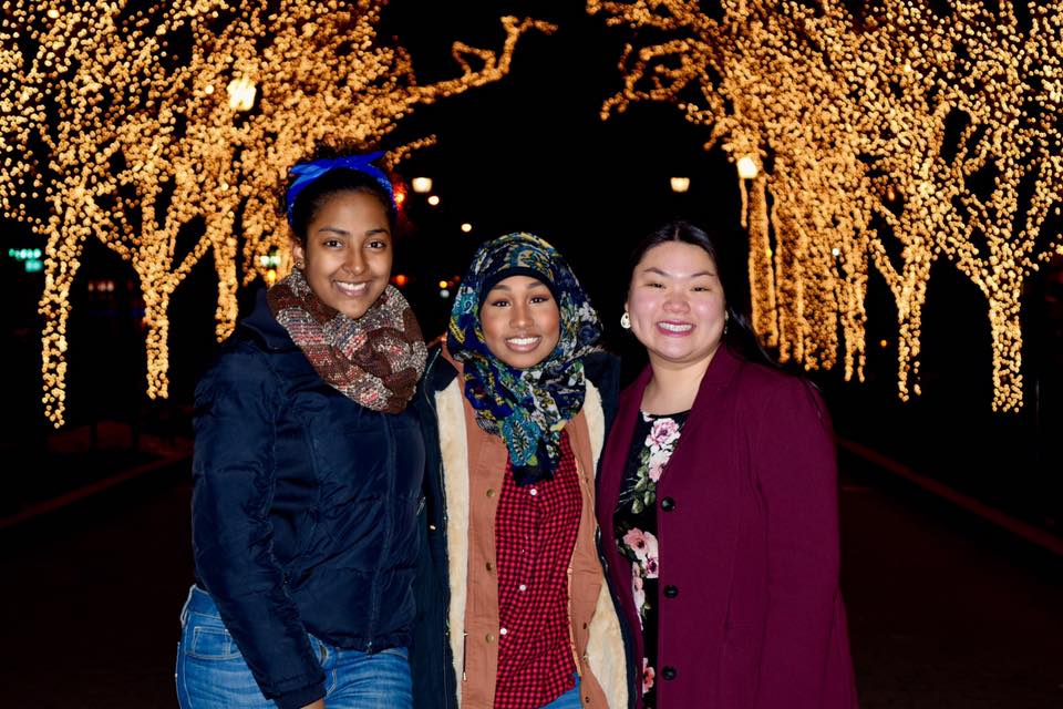 Some of my friends and I at the Annual Columbia Tree Lighting event.