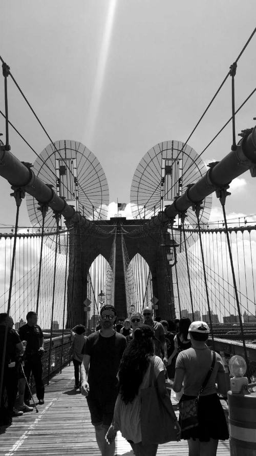 A lovely photo I captured of the Brooklyn Bridge during our trip.