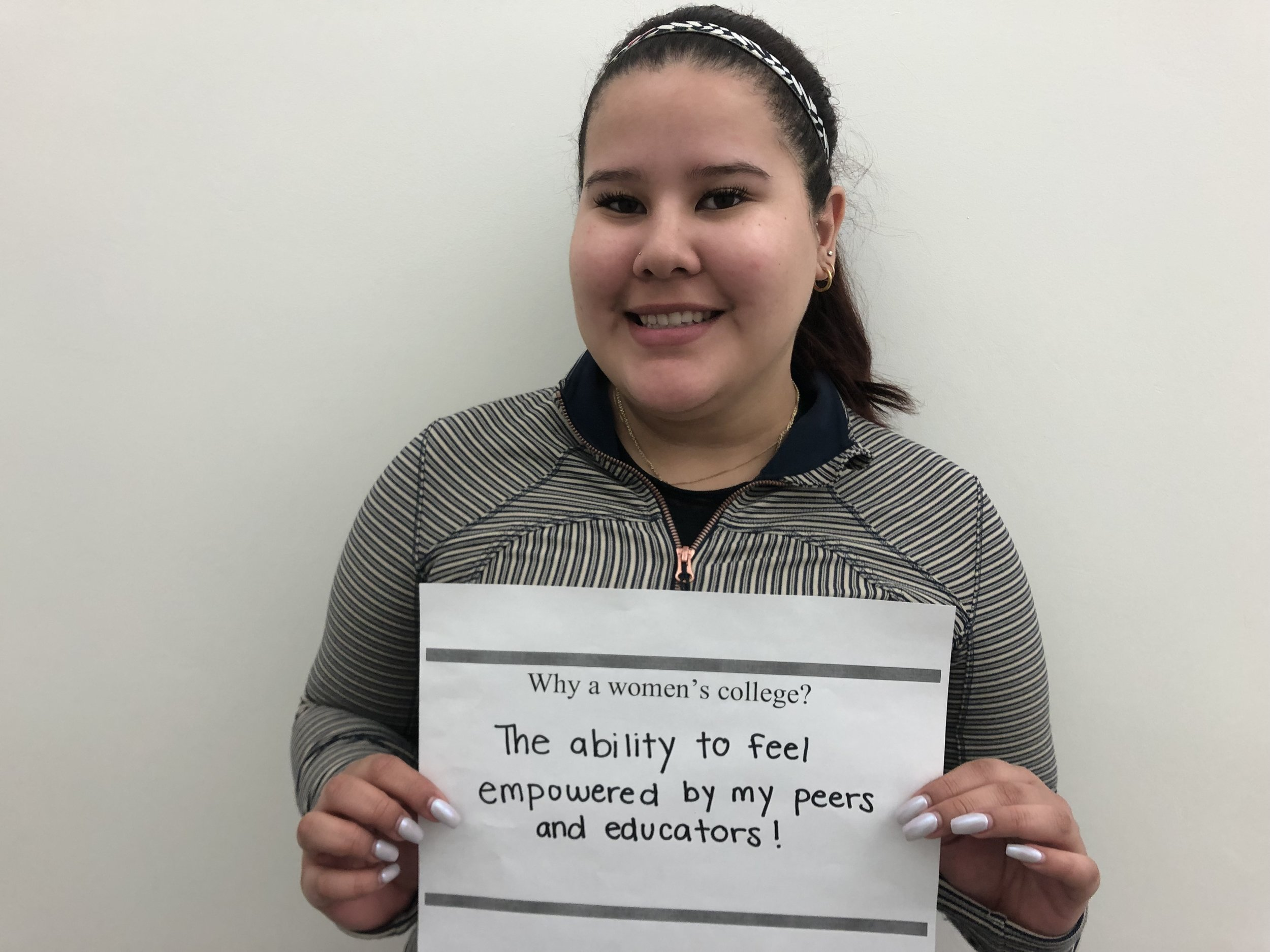 "Fatima B. '21 - ""The ability to feel empowered by my peers and educators!"""