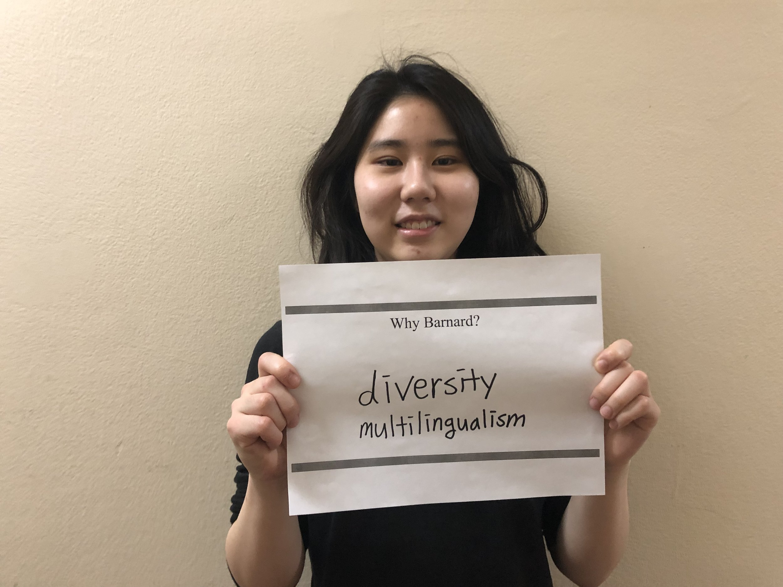 "Susie P. '21 - ""Diversity and multilingualism!"""
