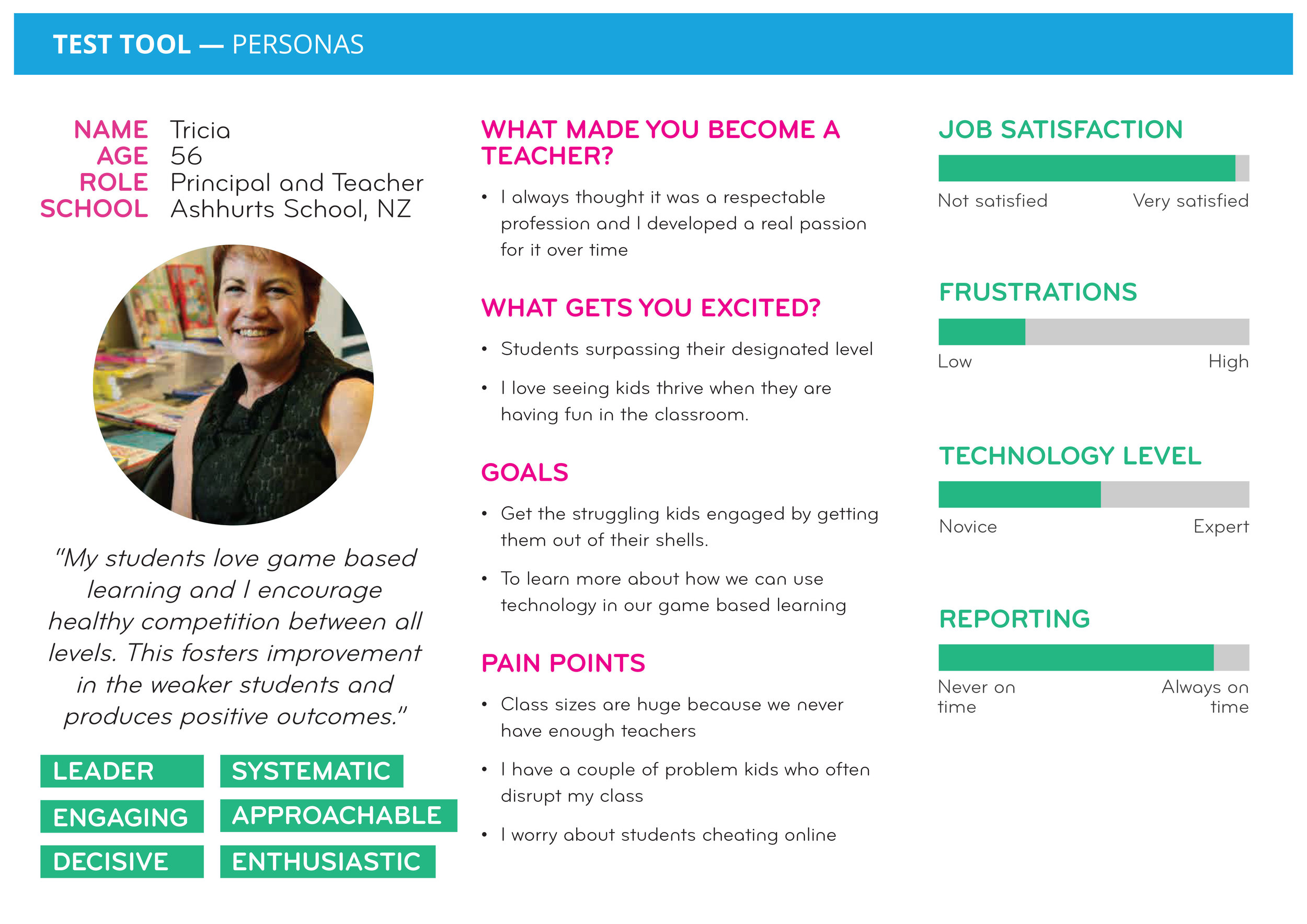 Example of a Principal/Teacher's Persona