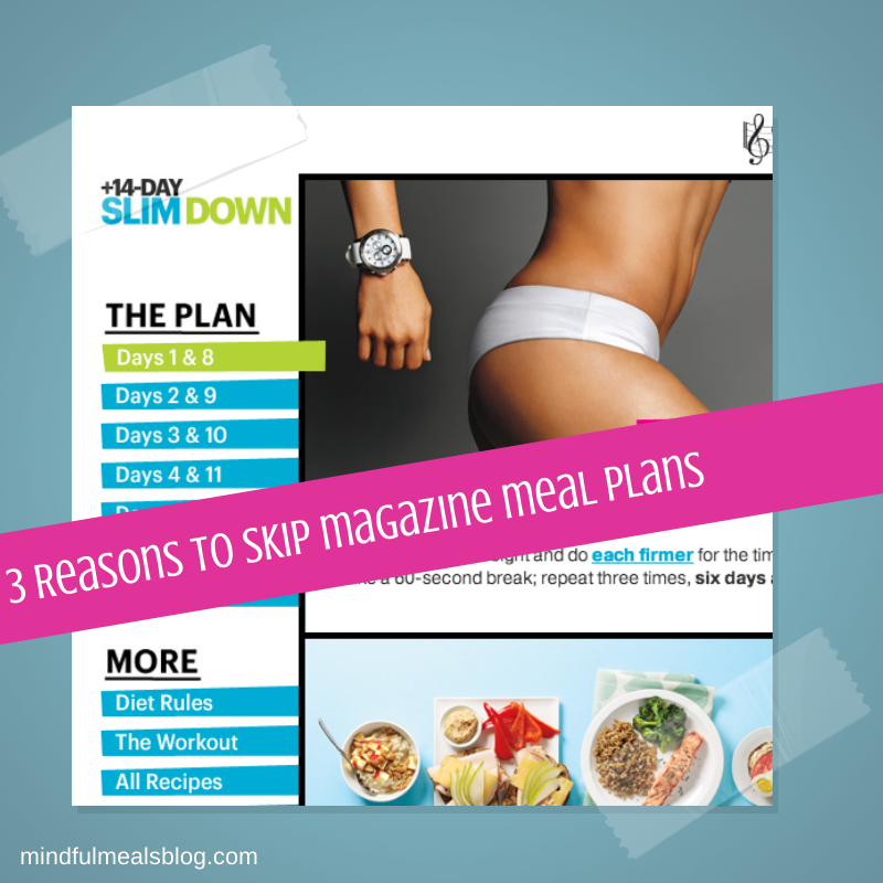 3 Reasons to Skip Magazine Meal Plans
