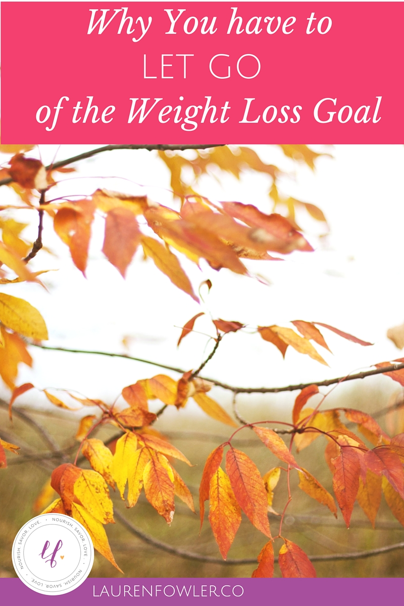 Why you have to Let Go of the Weight Loss Goal