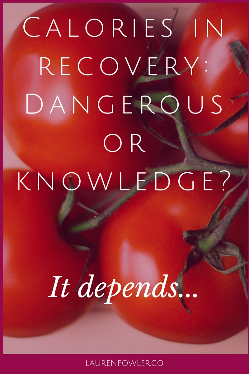 Calories in Recovery: Dangerous or Knowledge? It depends...