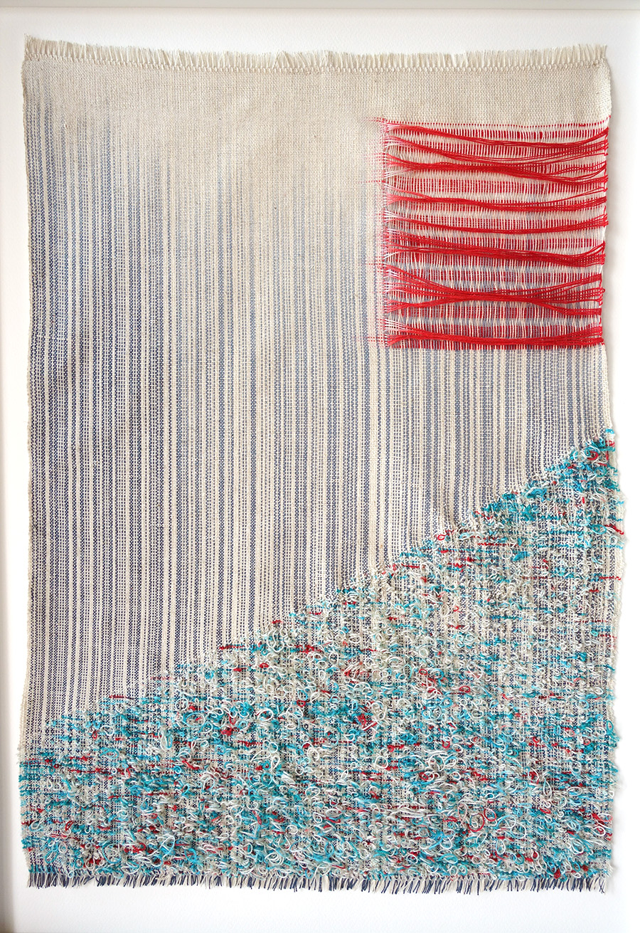 Untitled   Cotton and linen fibres 400 x 600 mm 2015