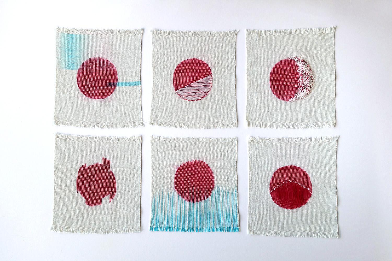 Moon Sketches   Cotton fibres 2015