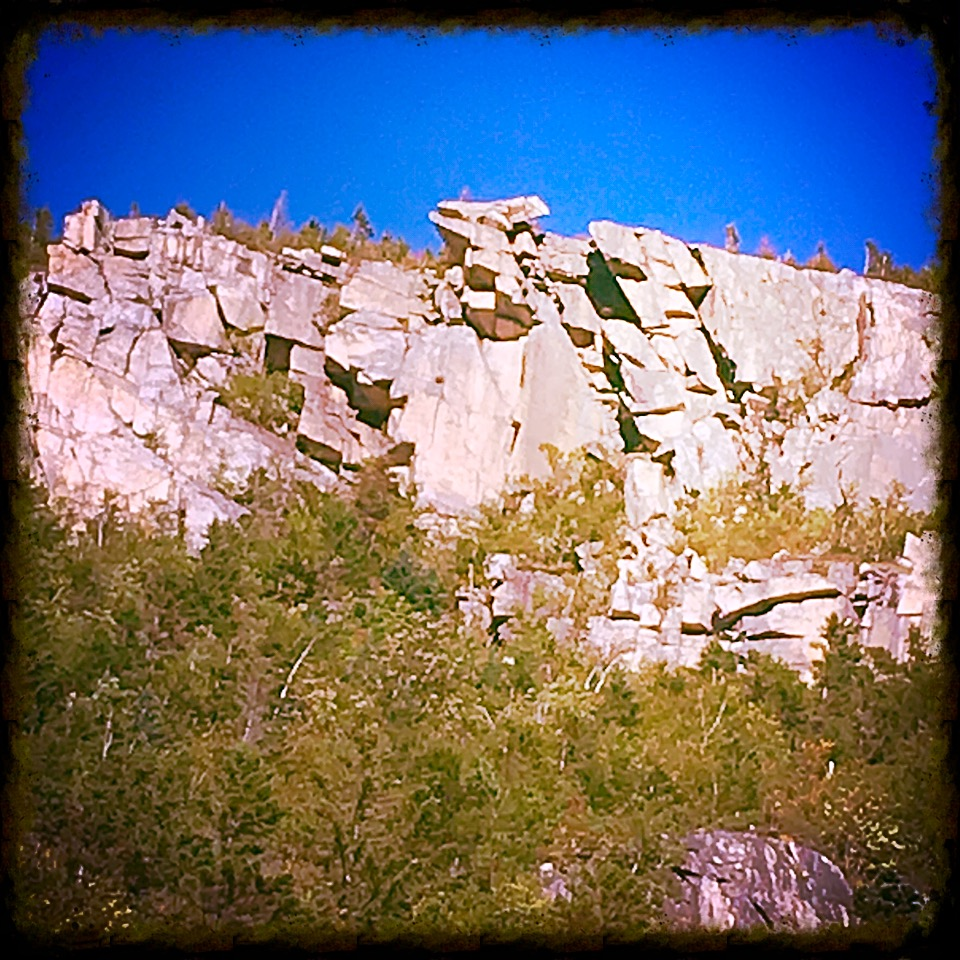 Whitewall Mountain...keep your rocks to yourself tonight!