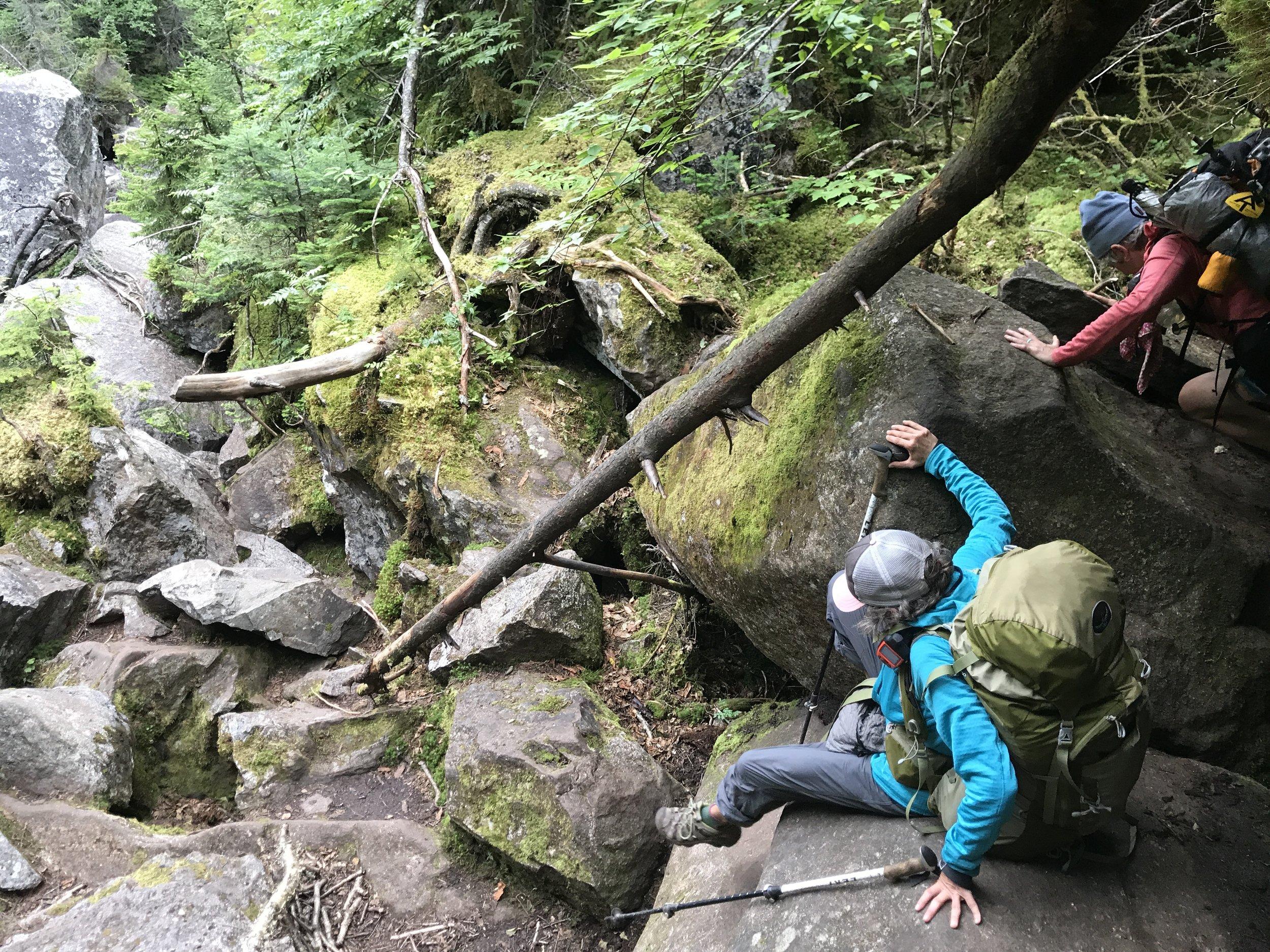 Ass hiking!
