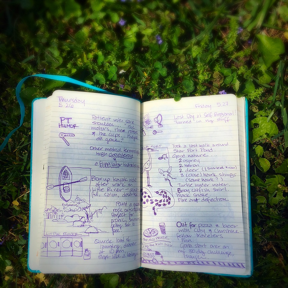 A shot of a page from my first log-book