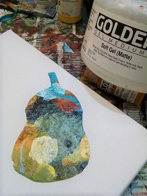 ©Christine Sauer, pear shaped paint skin