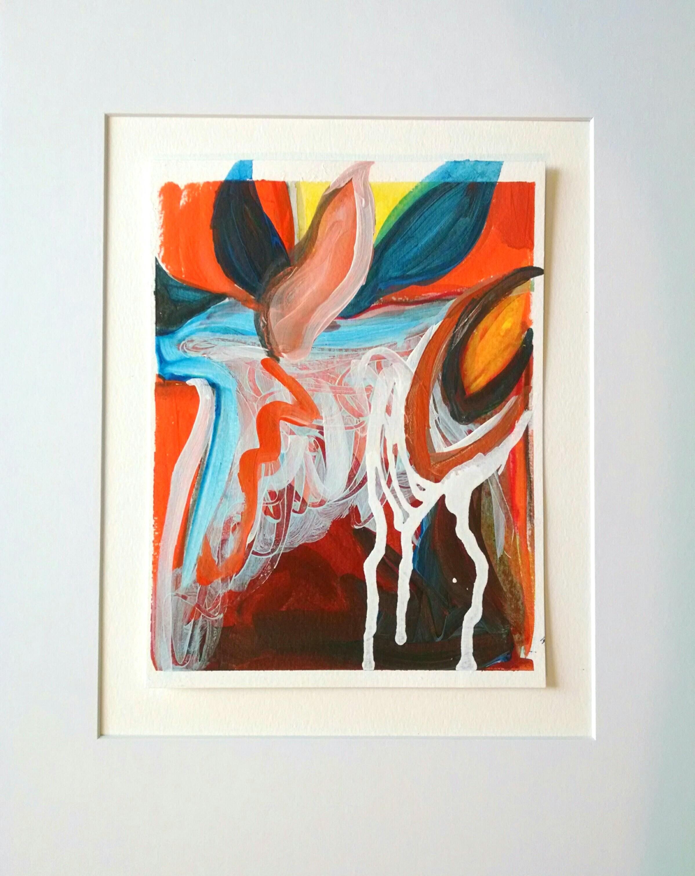 "Christine Sauer ""Urban Flora III"", 8x6"" acrylicon paper"