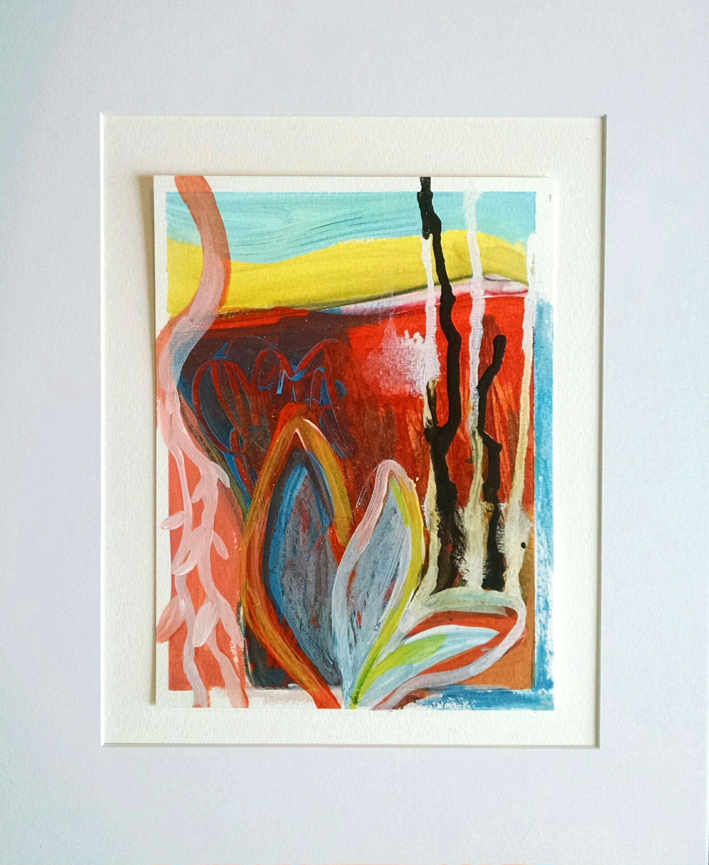 "Christine Sauer ""Urban Flora IV"", 8x6"", acrylic on paper"