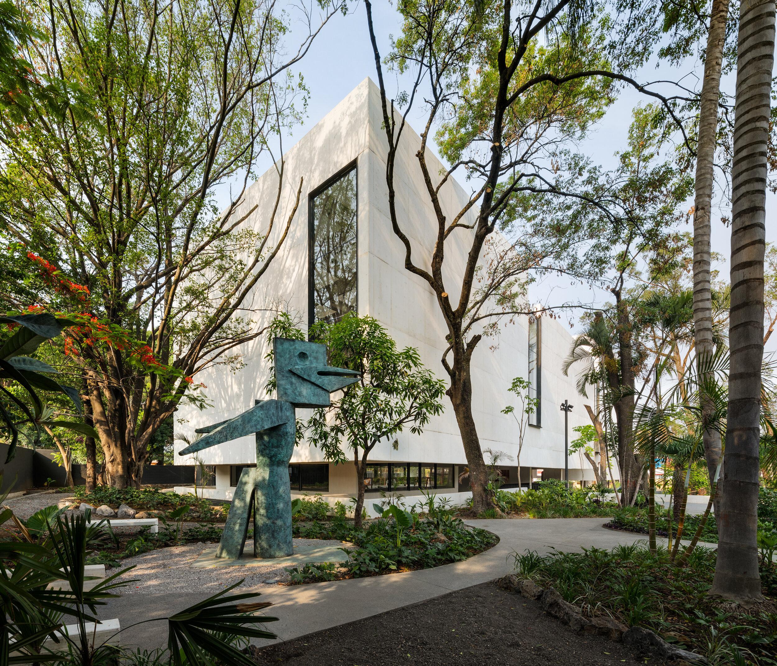 El jardín del Museo Juan Soriano ocupa el 80% del espacio.