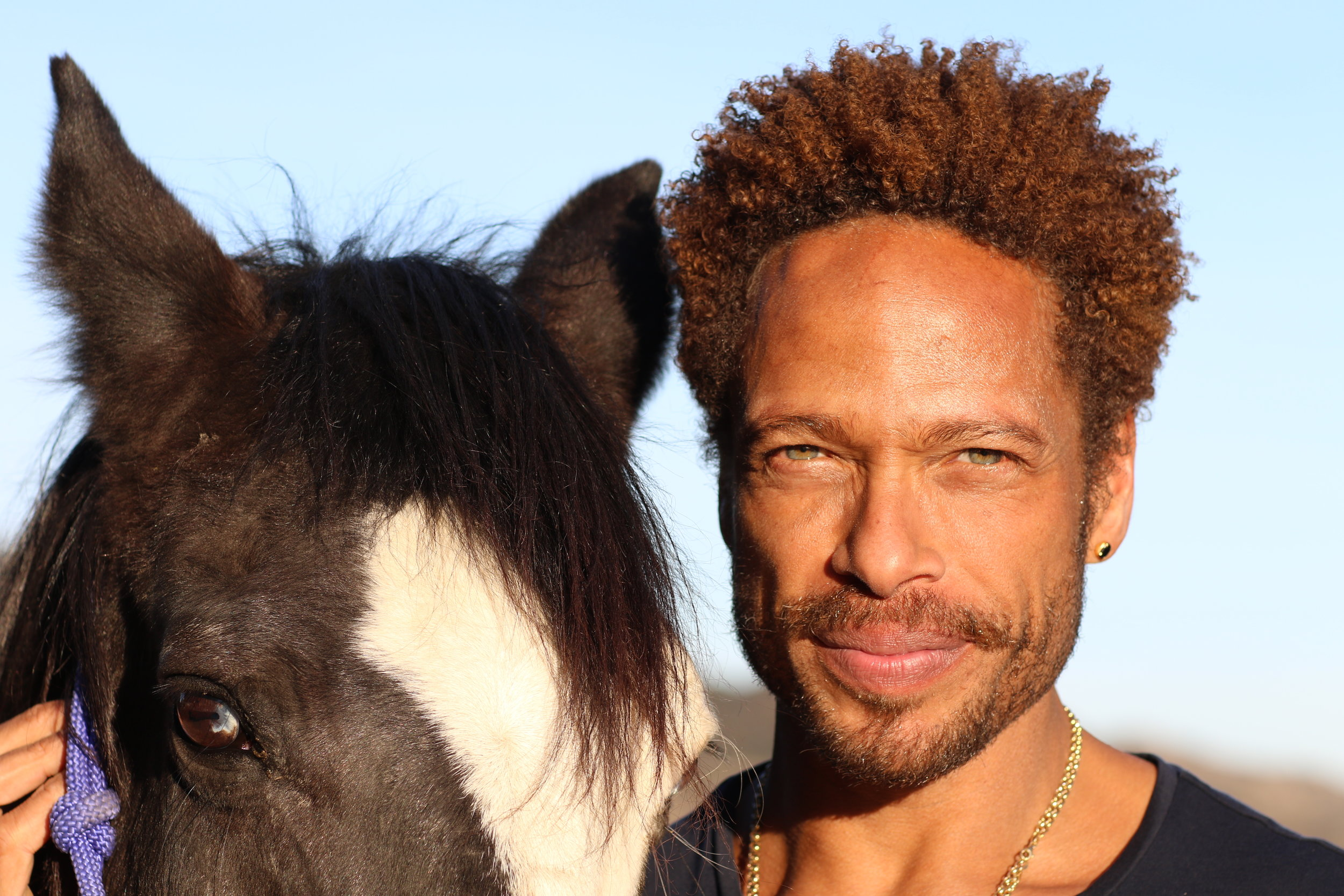 Gary Dourdan and Blue