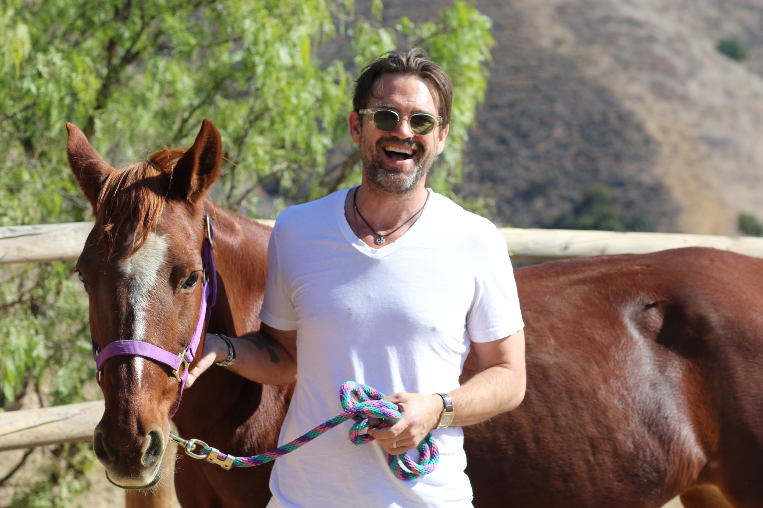Dougray Scott with Dani California
