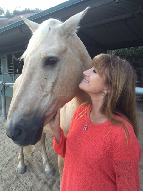 Jane Seymour with Buddy