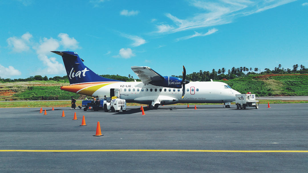 Liat is the Caribbean airlines we chose to take from Barbados