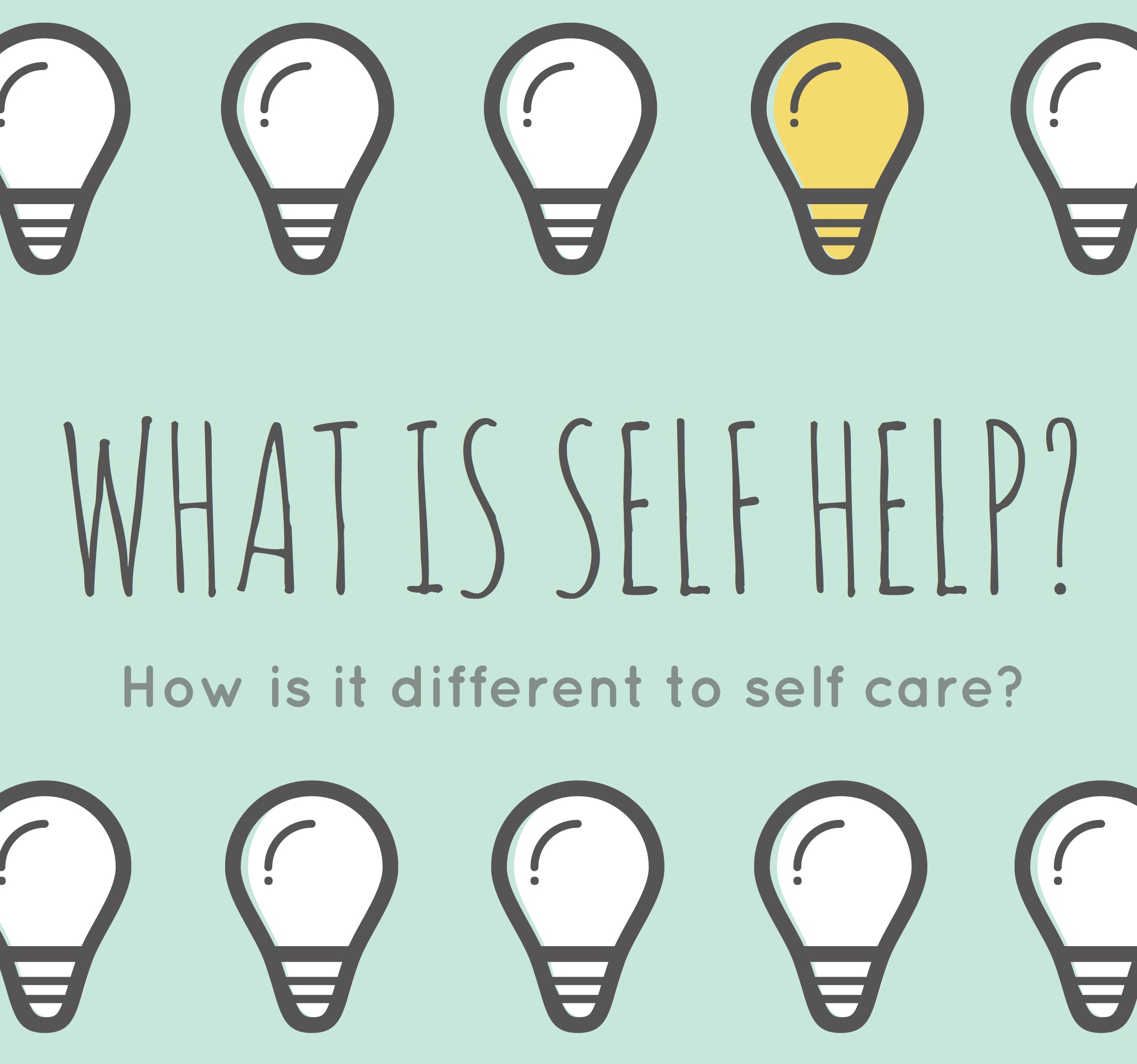 What is self help? - By Sarah Melen
