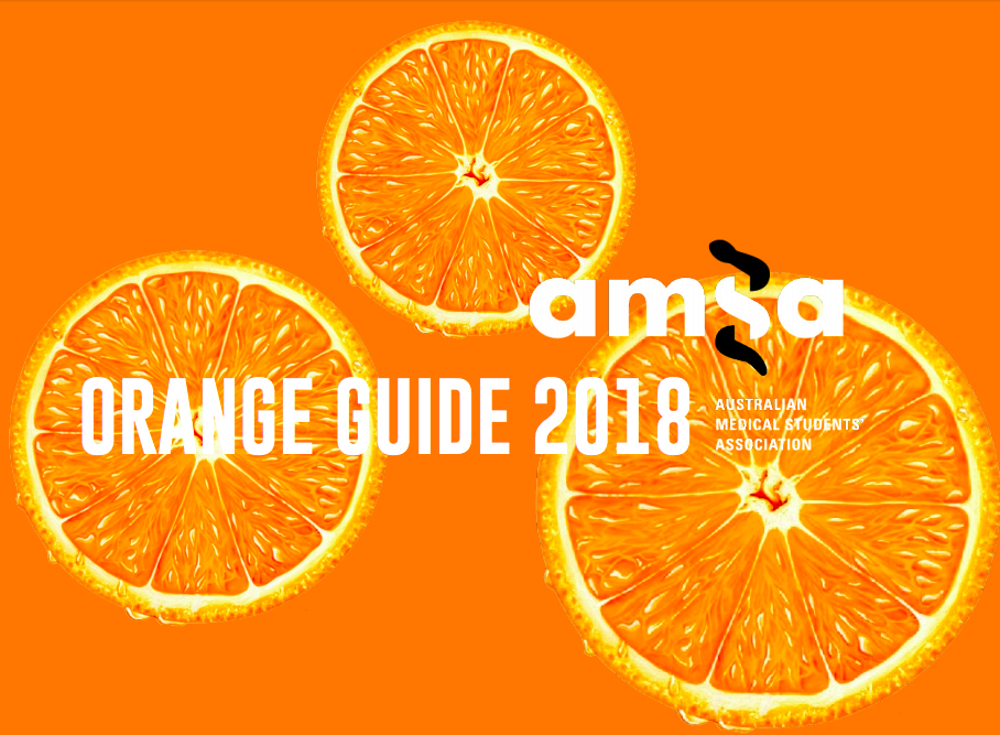 Check out the AMSA Orange Guide (2018) to learn about all things AMSA! -