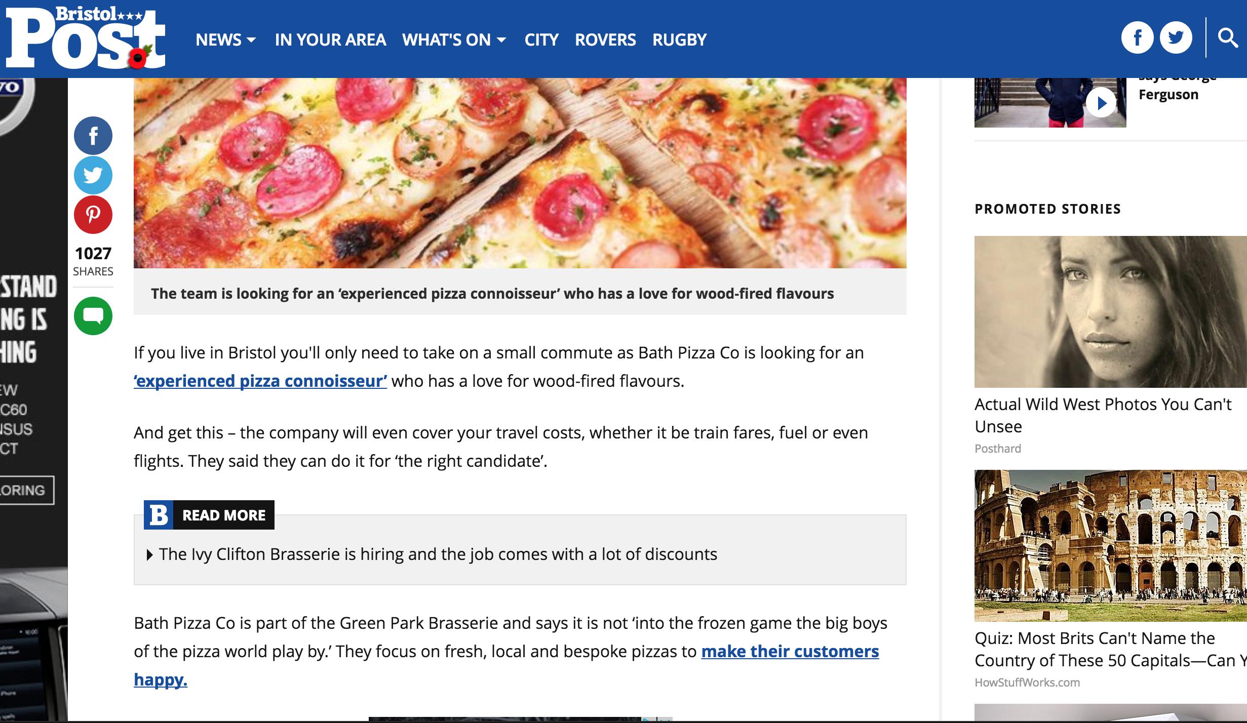 Bath Pizza Co Goes Viral Alex Peters Marketing