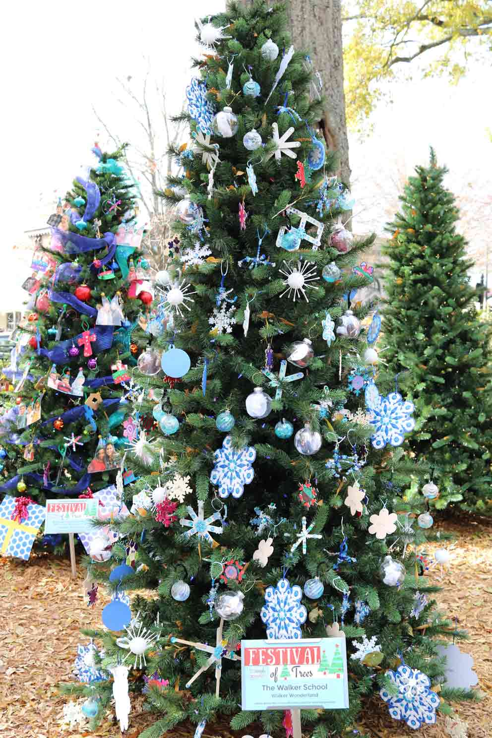 The Walker School    Created by:  Students (Early Learners - Grade 12)   Theme:  Walker Wonderland   Inspiration:  Wonder guides the educational experience at Walker. Our tree's decor is reflective of this endeavor. Through the curiosity & creativity of our students, faculty, & staff, this tree is a representation of the wonders of Walker as they have manifested through challenging curricula, engaging interpersonal relationships, demanding athletics, & stimulating extracurricular activities.