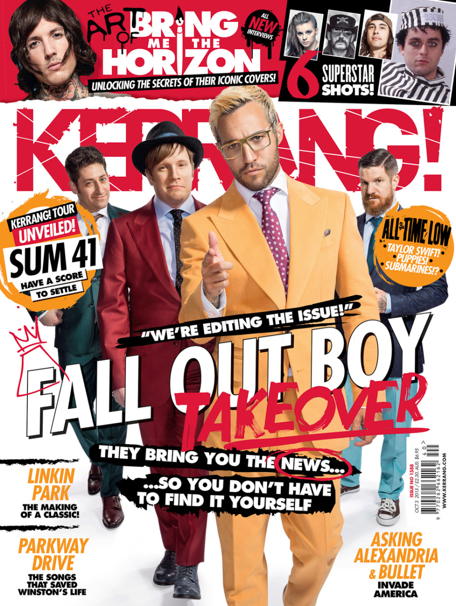 Fall Out Boy Kerrang! Cover