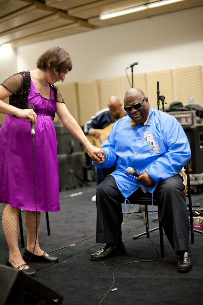 Blind Boys of Alabama and Shara Worden rehearsal