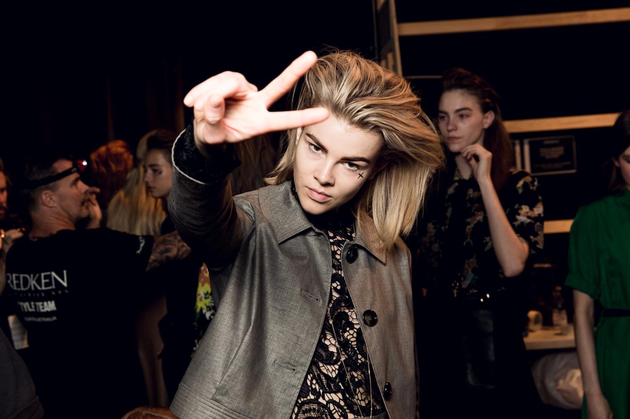 Kate Sylvester MBFWA Backstage 2015