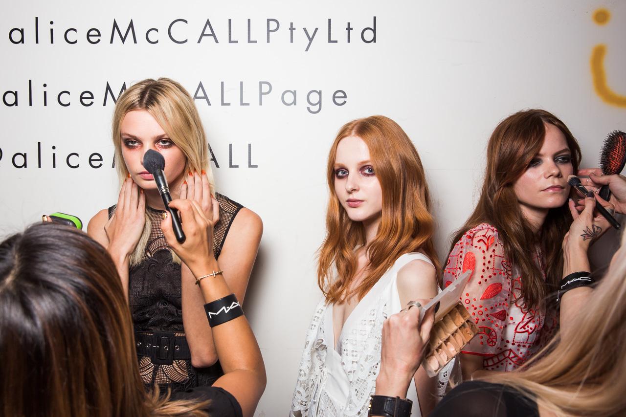 Alice McCall MBFWA 2015 Backstage