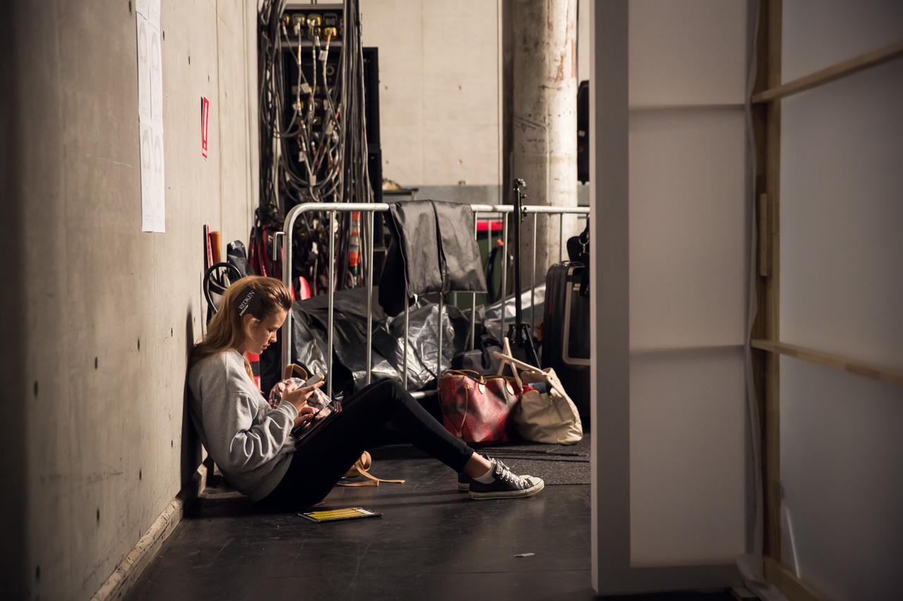 Michael Lo Sordo backstage