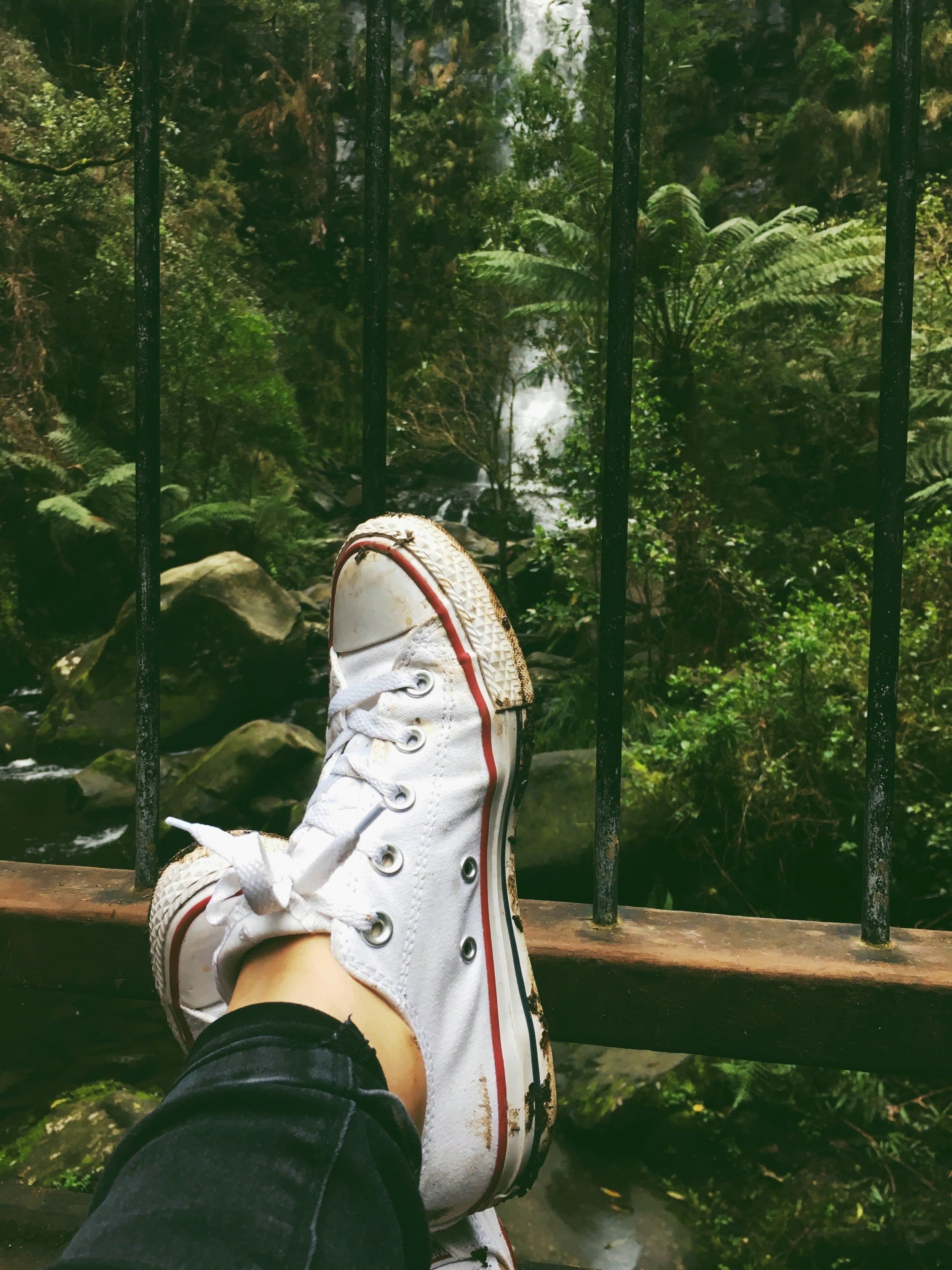 erskine falls and practical footwear