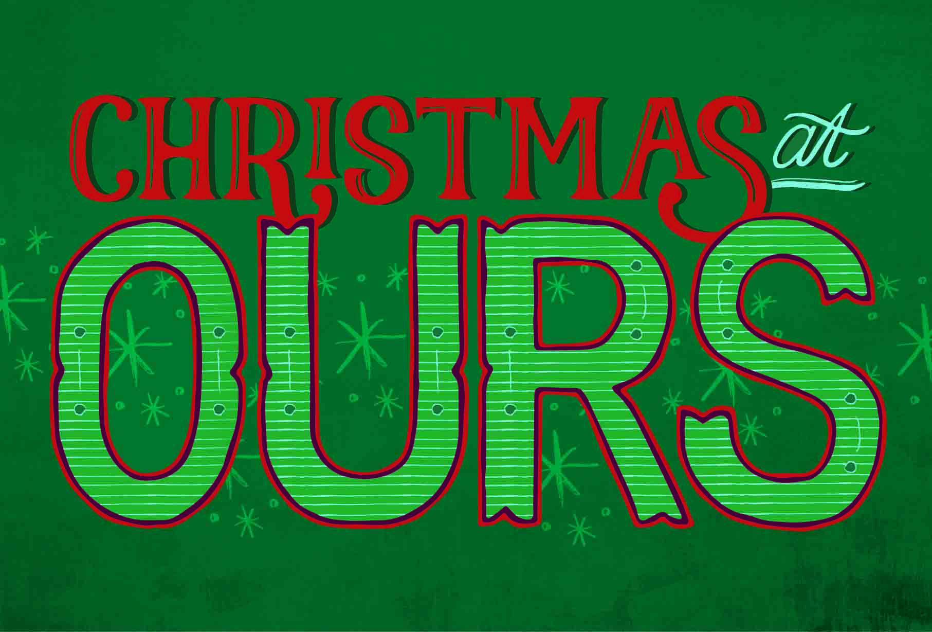 """dream builders church / custom illustration and branding for """"christmas at ours"""" event"""