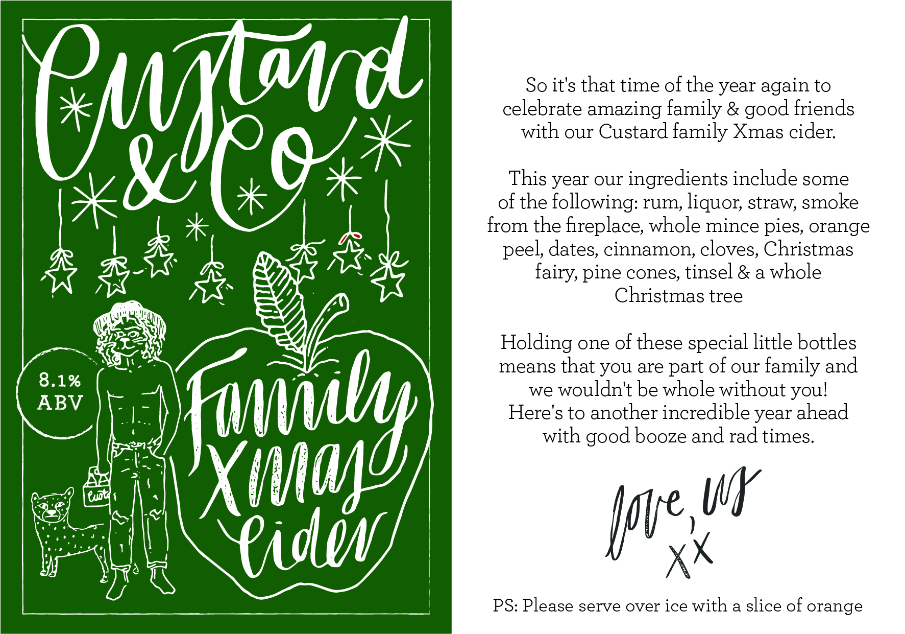 custard & co / christmas cider label