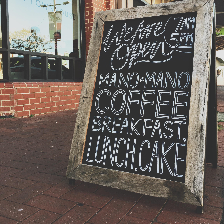 the townhouse cafe / custom chalkboard
