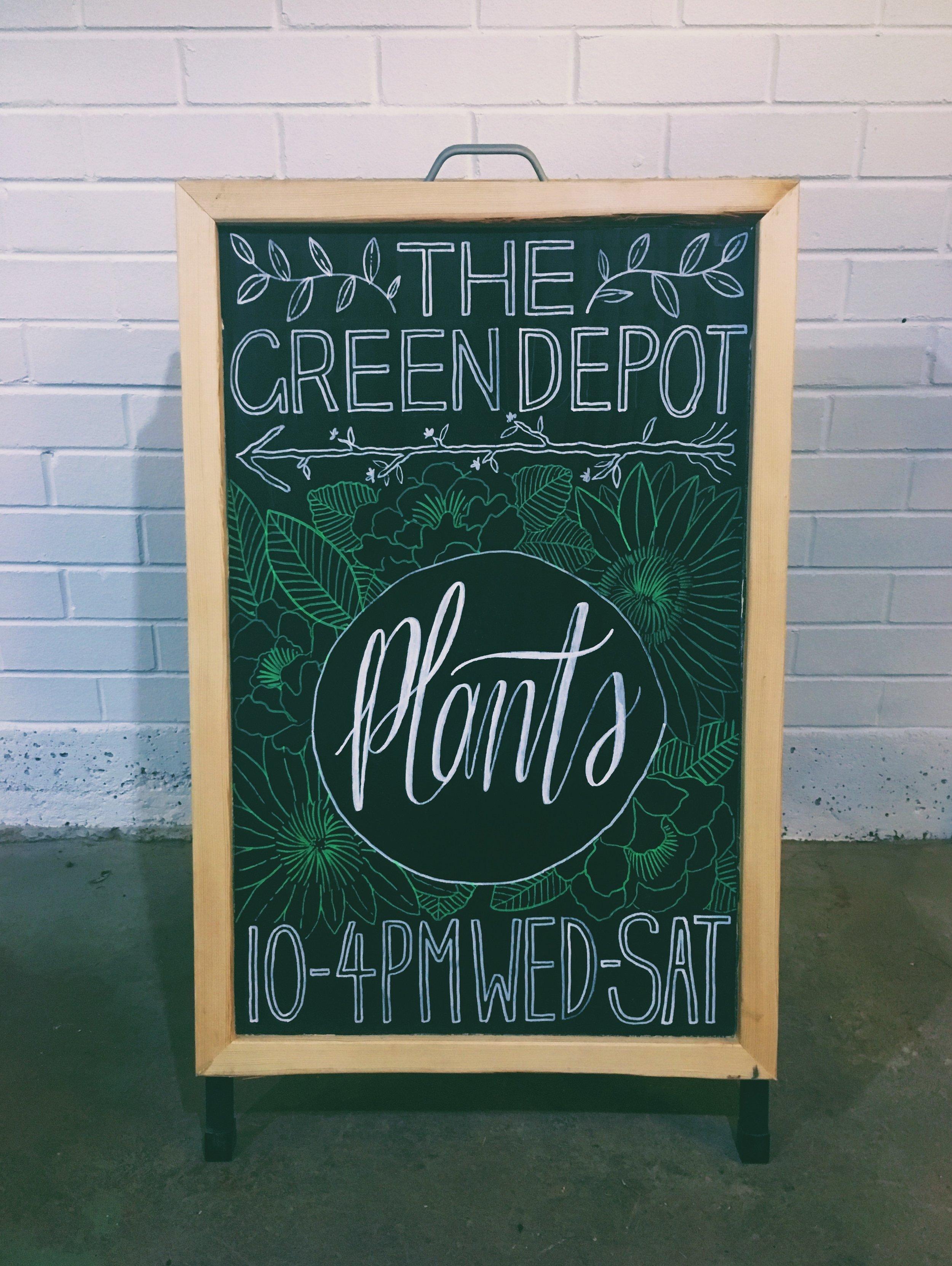 the green depot / custom chalkboard