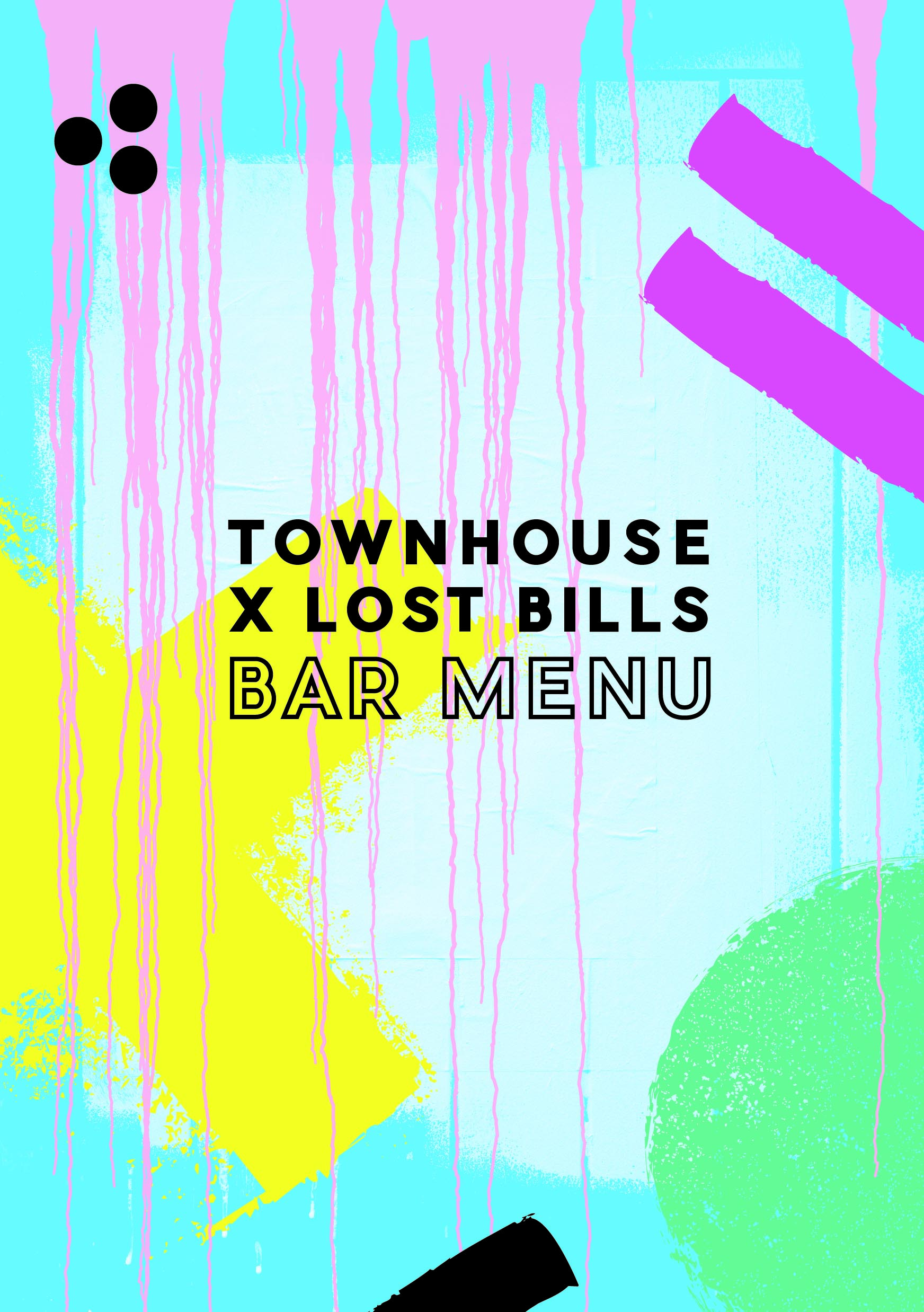 the townhouse & lost bills / bar menu, pirate life tap takeover