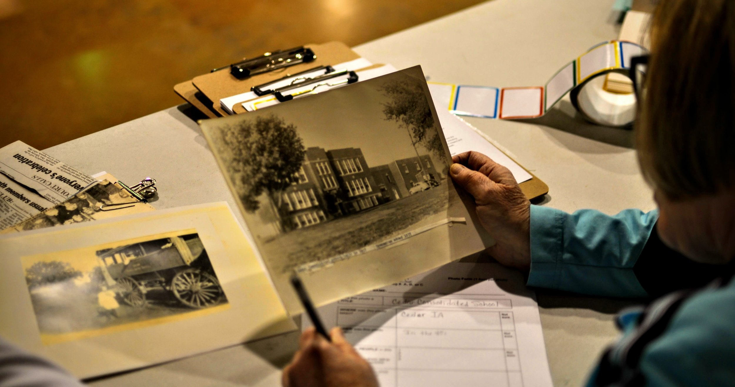 Photos shared at one of our Mahaska Memories Roadshow events in 2018. These events collected photos and recorded people's stories about their experiences living in Mahaska County. The Roadshow collection was the basis for the production of  Home Again .