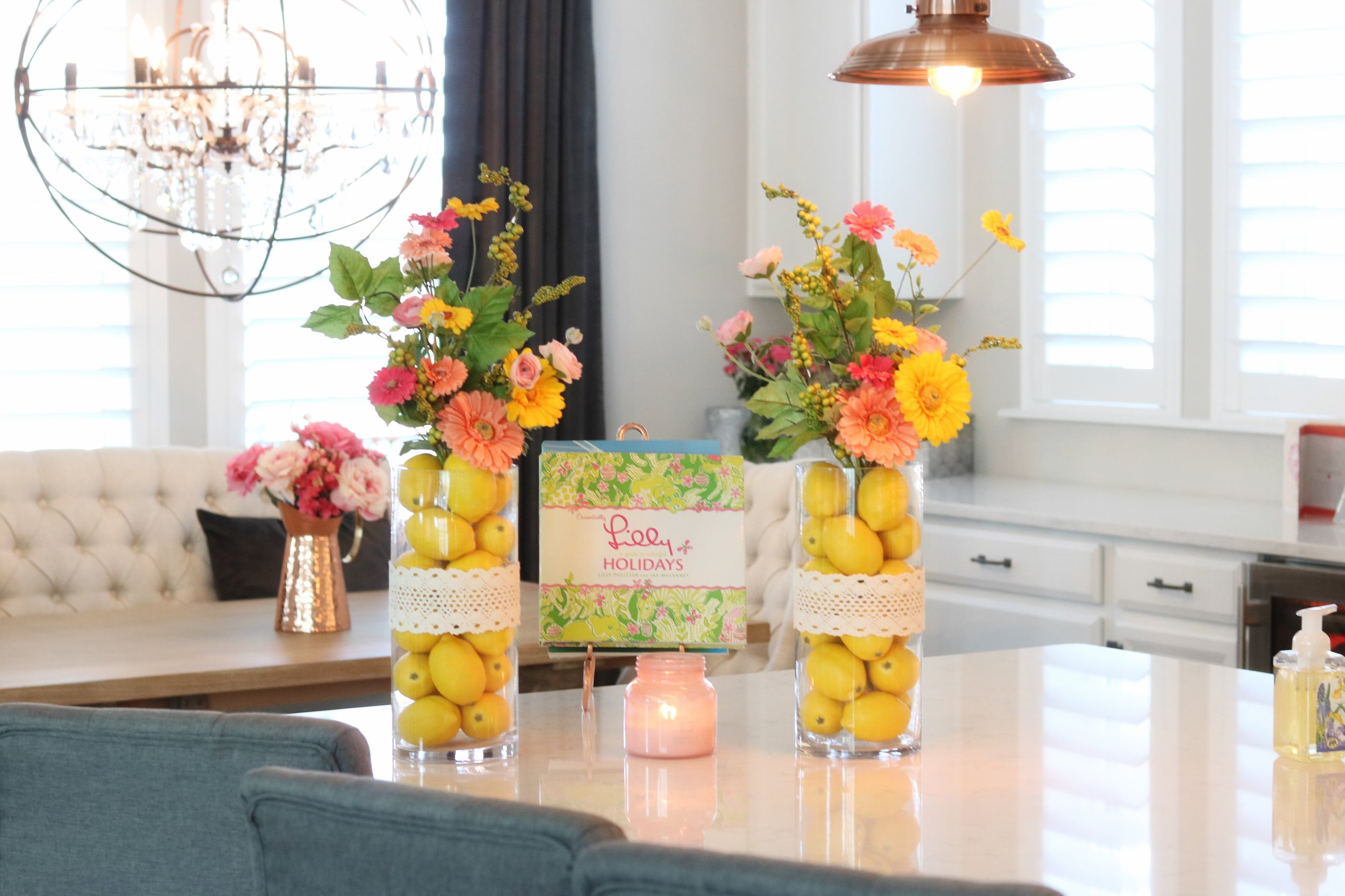 lilly pulitzer and lemon vases.jpg