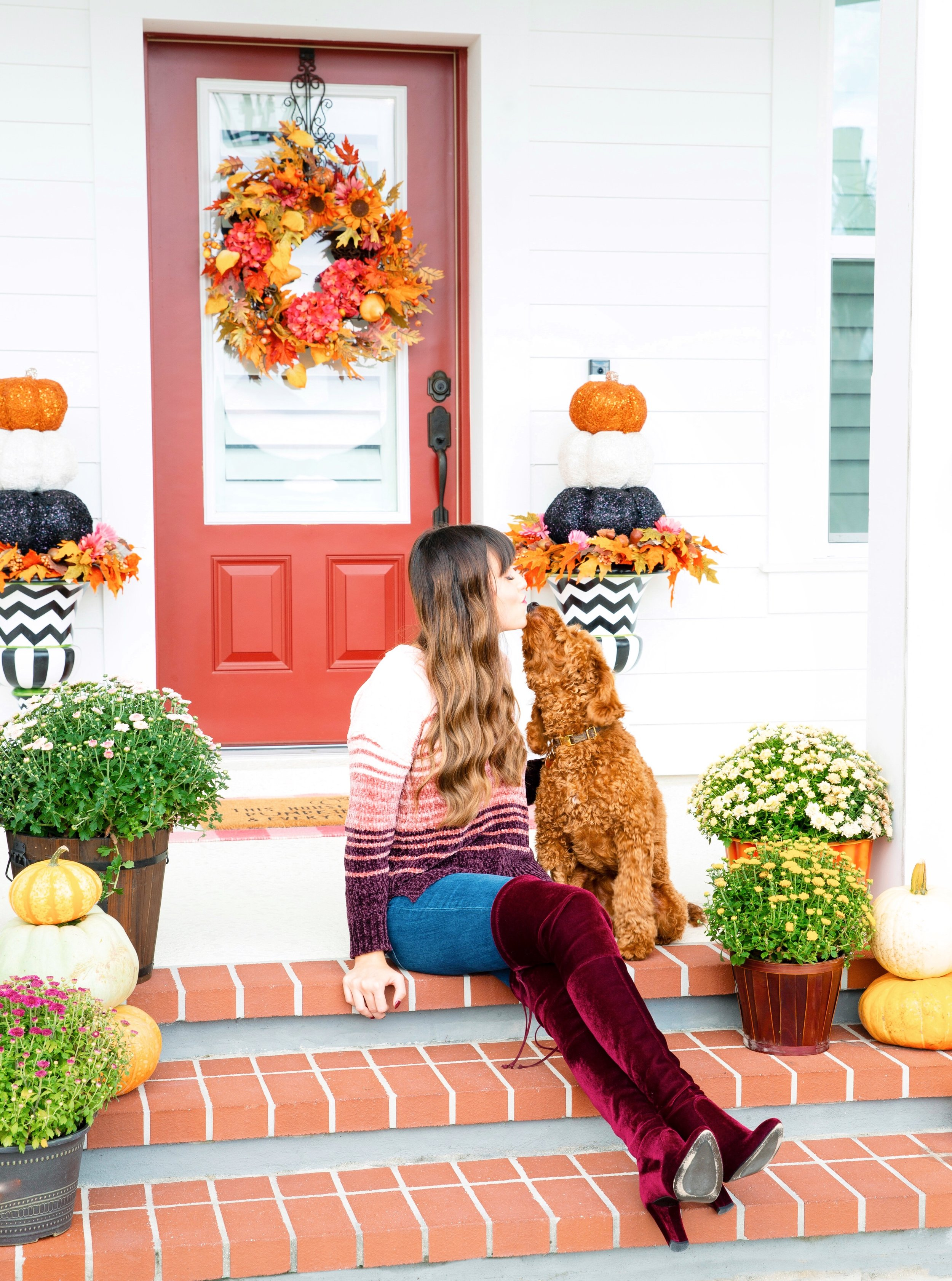 Colorful Fall Front Porch Decorating tutorial.JPG