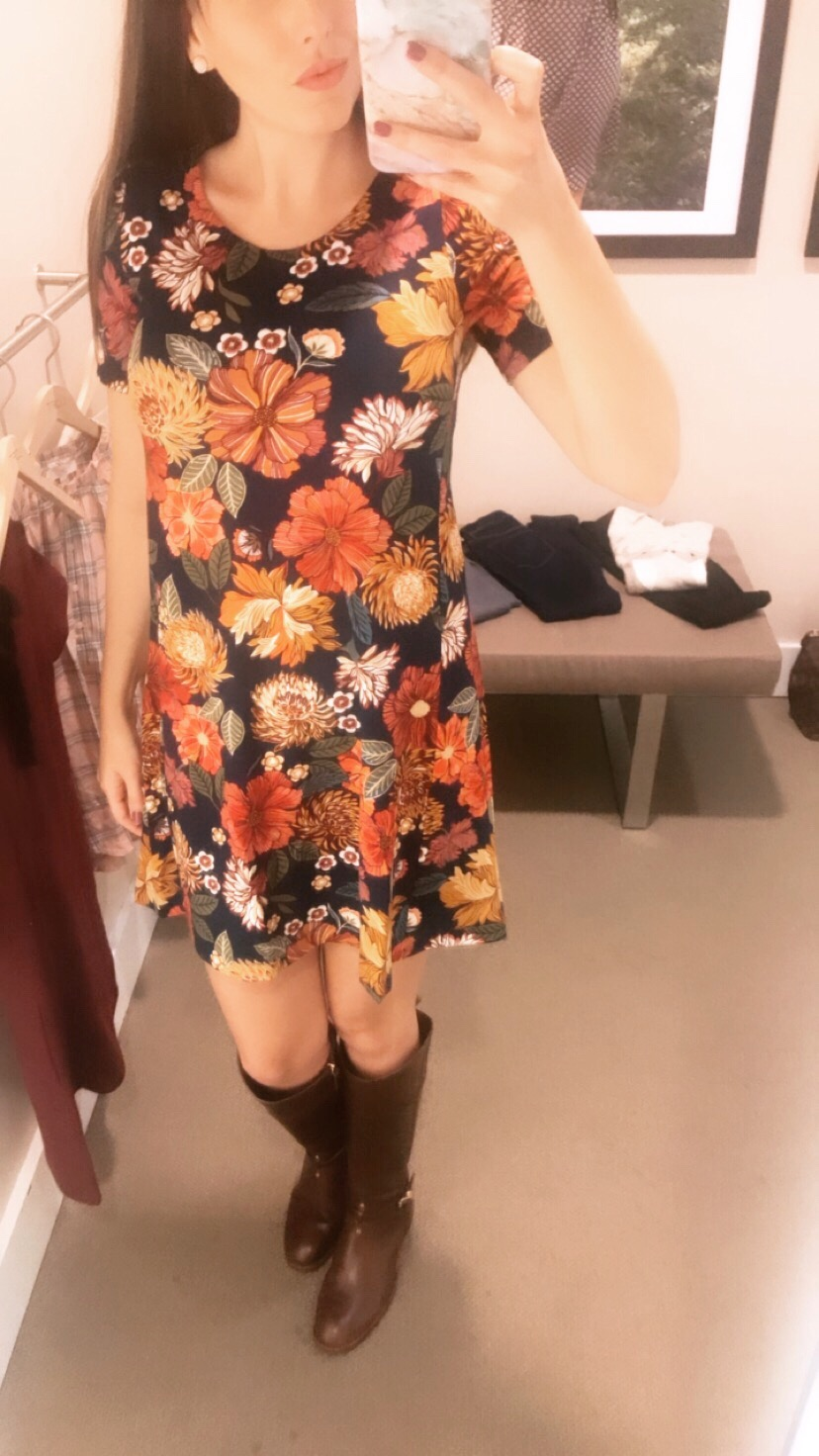 loft floral dress thanksgiving outfit.JPG