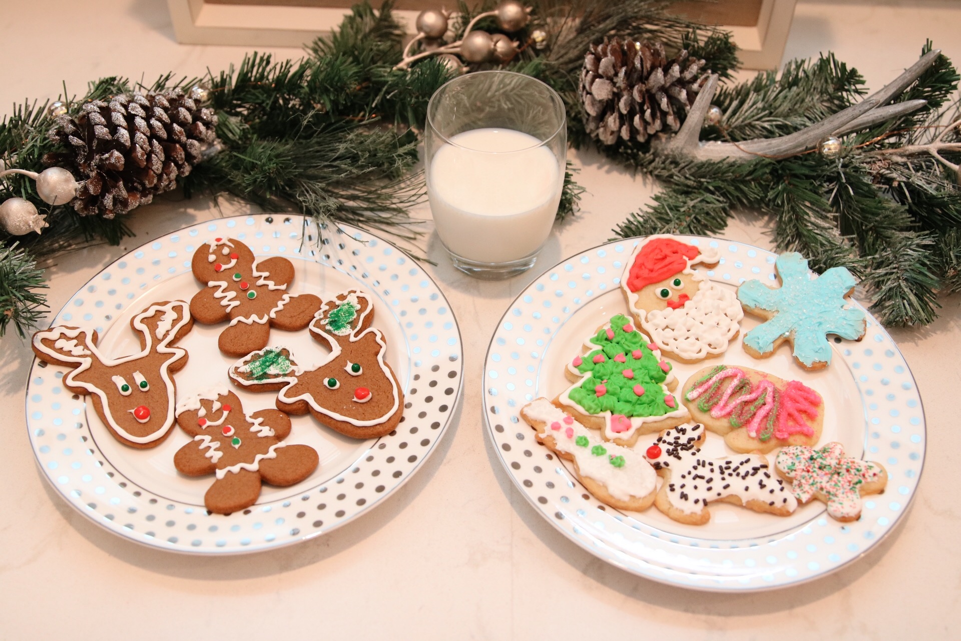 Finished sugar and gingerbread cookies.JPG