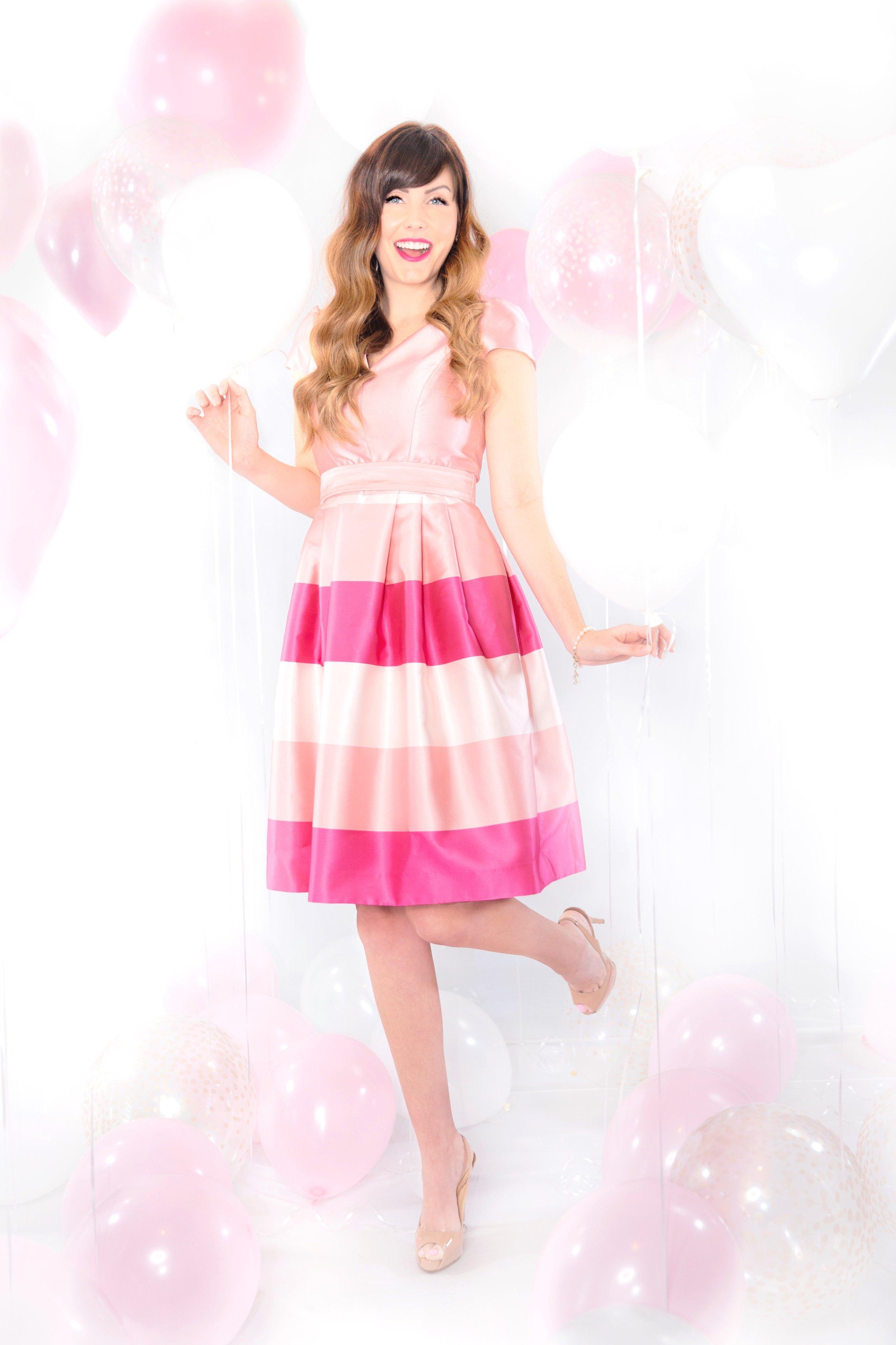 gal meets glam pink holiday dress kennedy.JPG