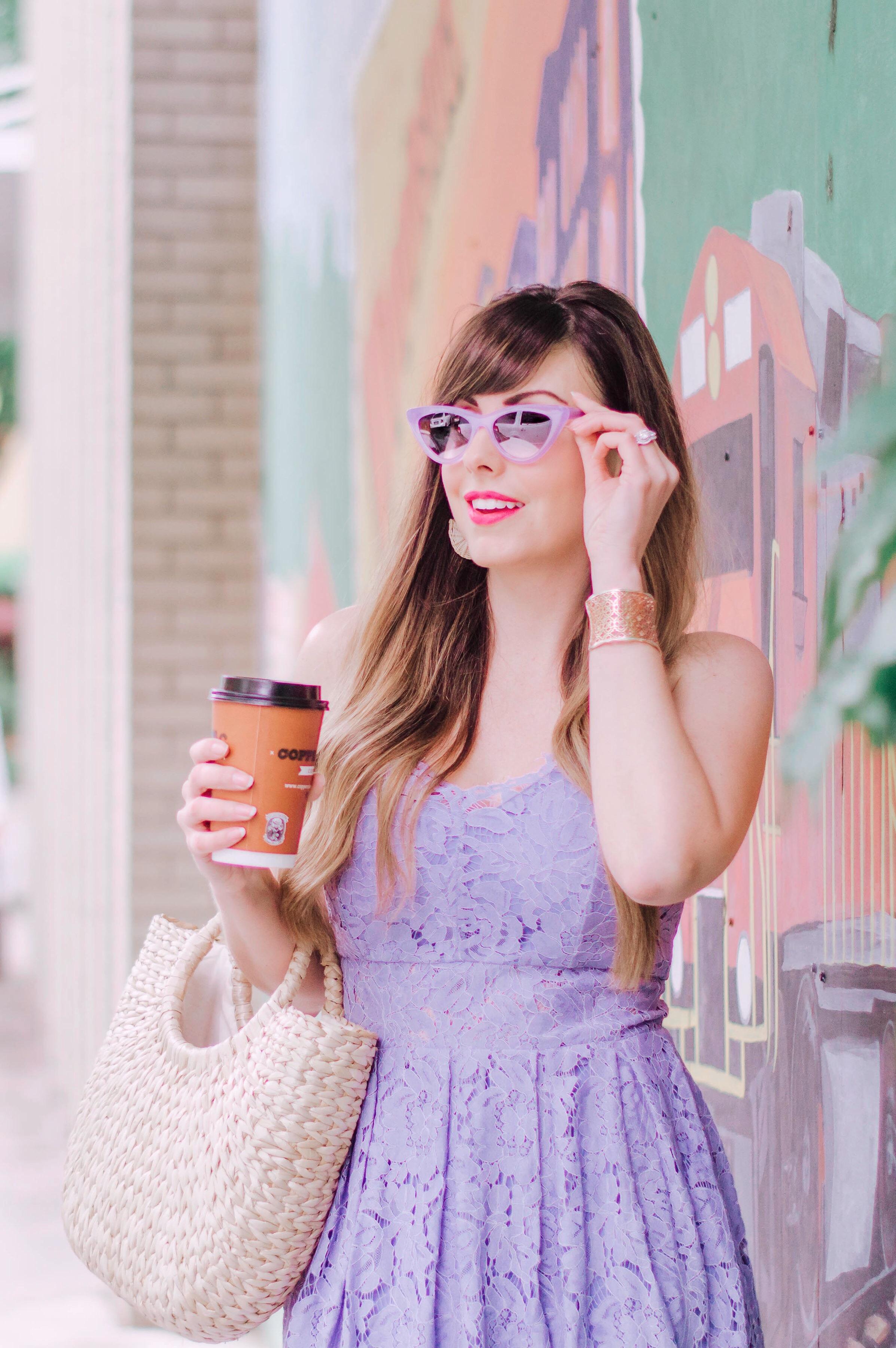 lavender dress and cat eye sunnies.JPG