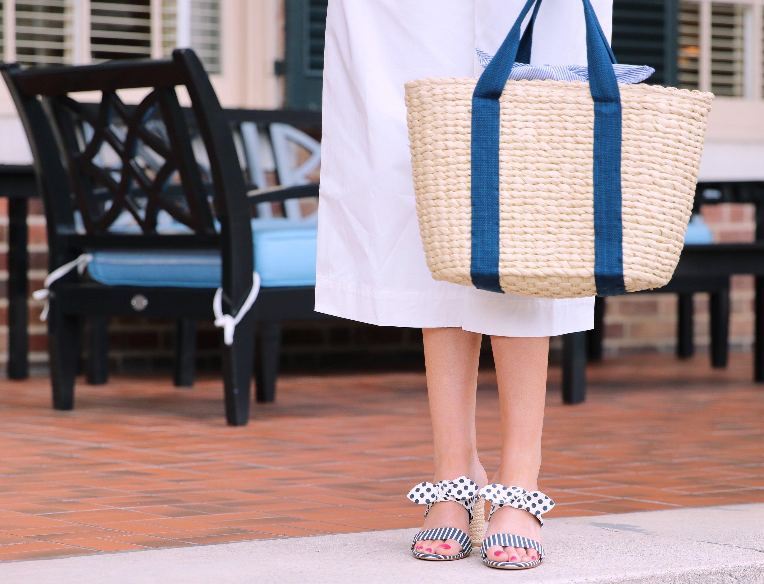 white jumpsuit navy dot shoes.JPG