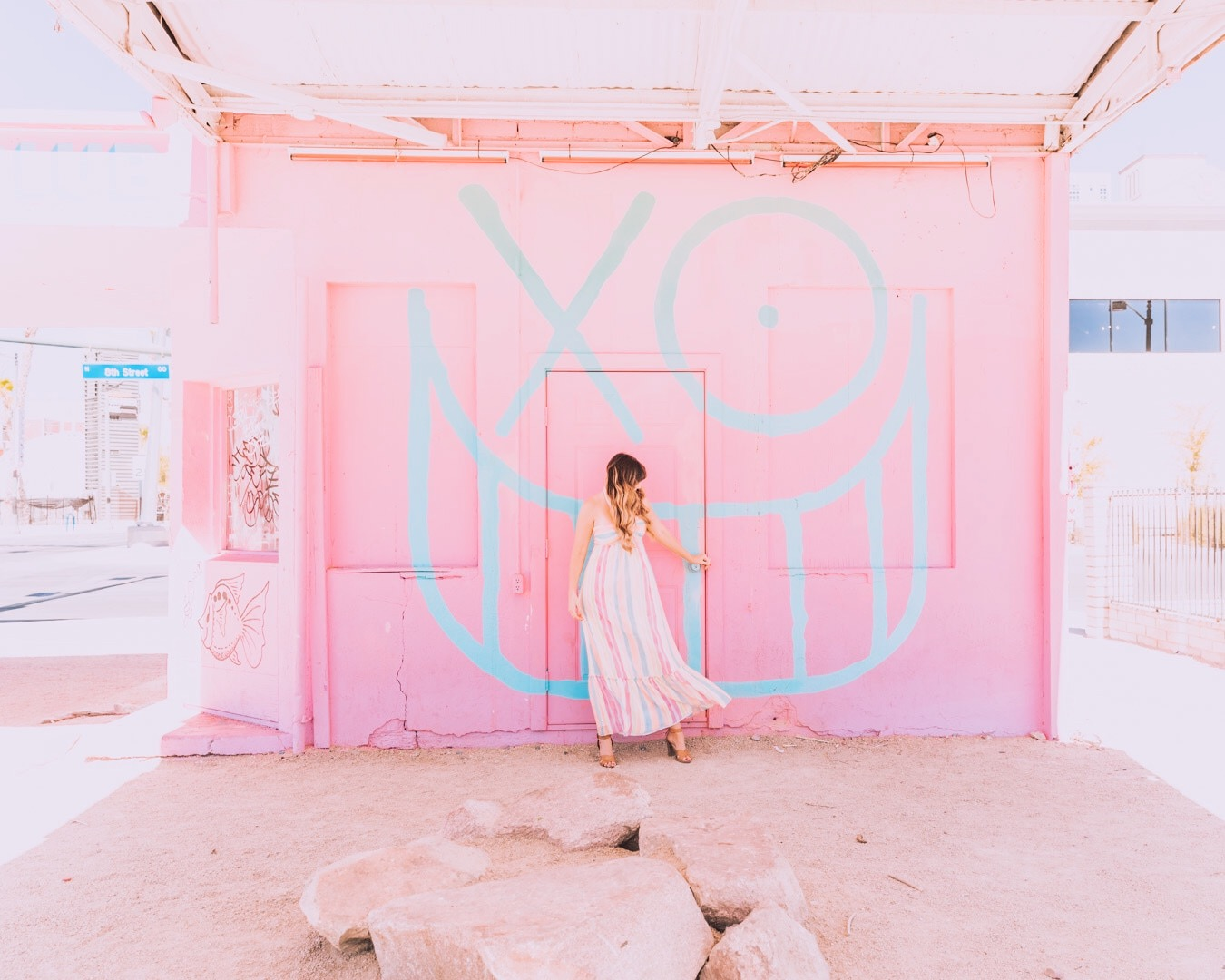 vegas pink life is beautiful art and music festival building.JPG