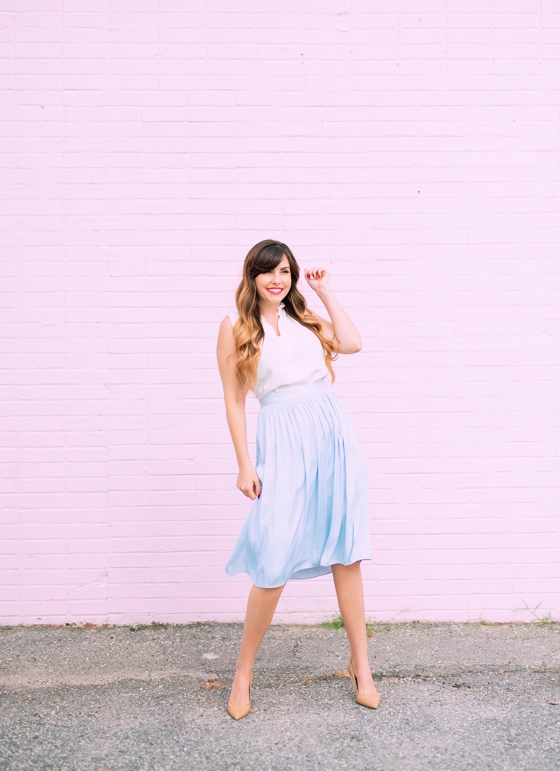 pleated cinderella blue skirt.JPG