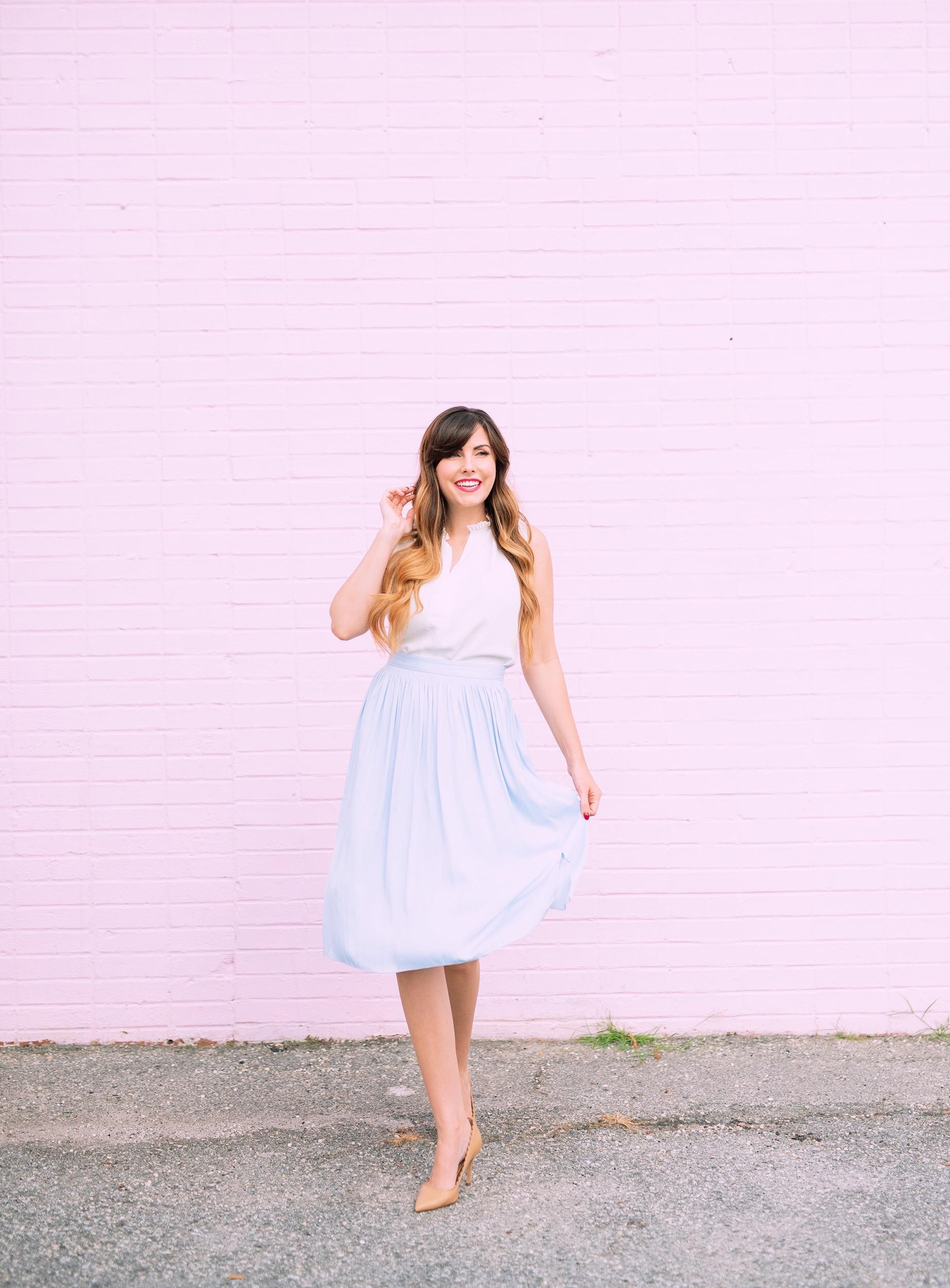 feminine pleated skirt.JPG