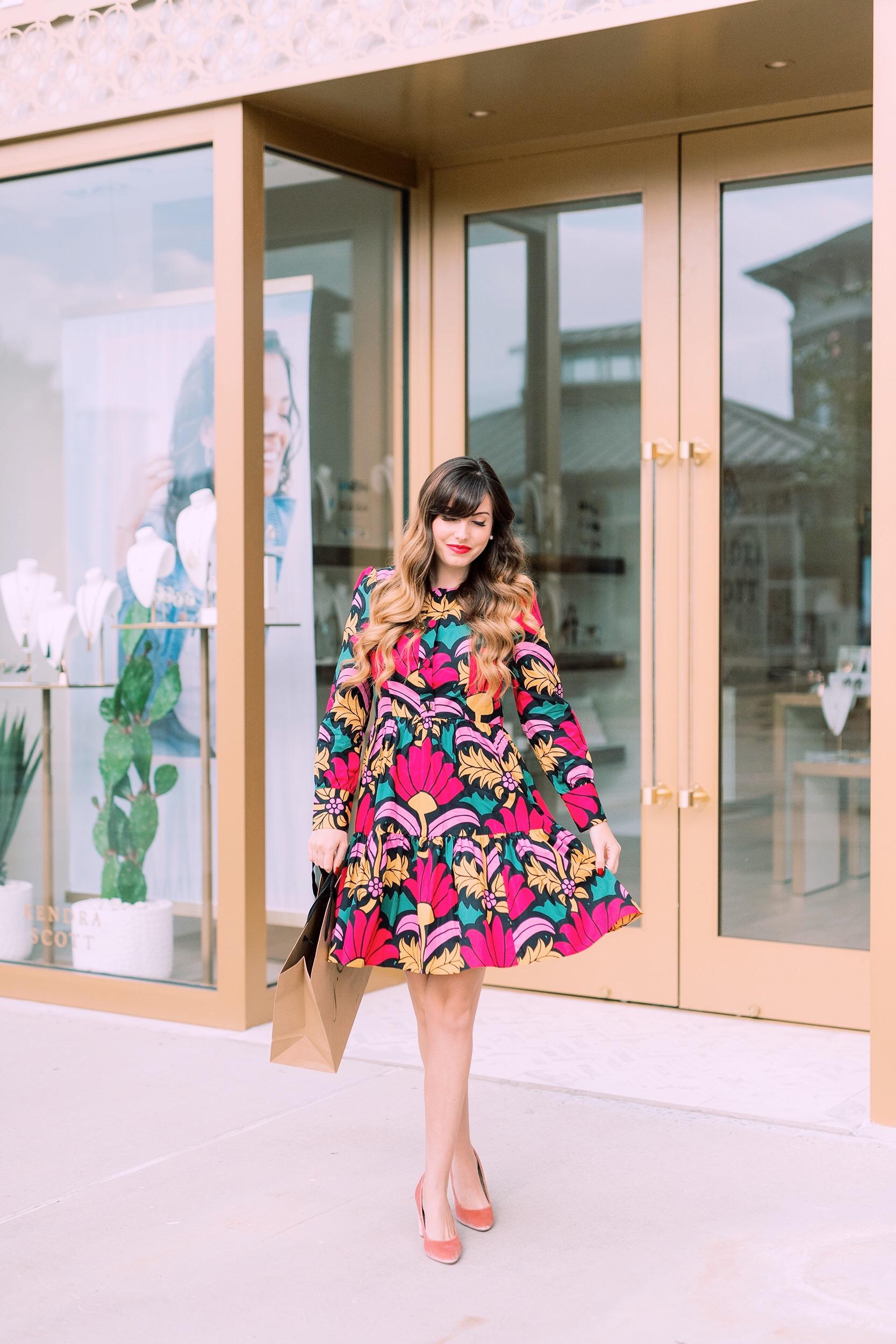retro pre fall floral dress.JPG